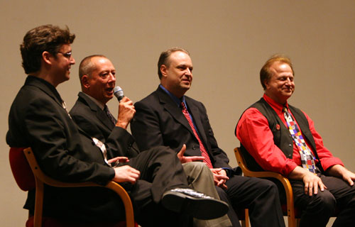 Lane Wyrick Barry Morrow Peter Bloesh and Jack Doepke on stage at World Premiere