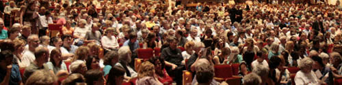 An audience of nearly 1200 attended the Hancher Premiere of A Friend Indeed